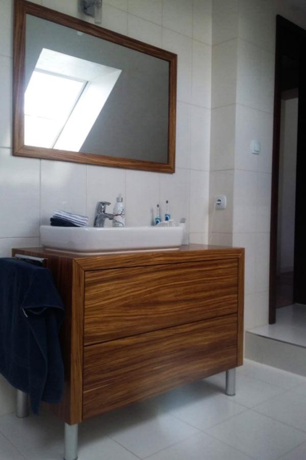 Lakierowanie frontów meblowych, meble  łazienkowe